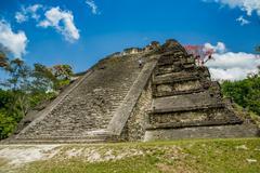 Tikal mayan ruins in guatemala Stock Photos