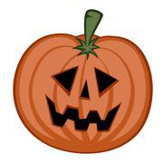 Pumpkin Head Stock Illustration