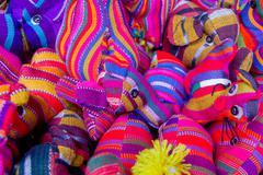 Traditional mayan textiles Stock Photos