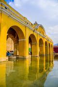 La union water tank in antigua guatemala Stock Photos
