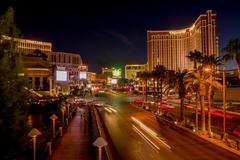 las vegas boulevard at night - stock photo