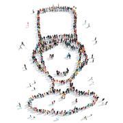 people  shape  man cartoon - stock illustration