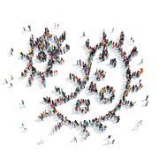 people  shape  bacteria medicine - stock illustration