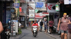 Busy shopping street,Kuta,Bali,Indonesia Stock Footage