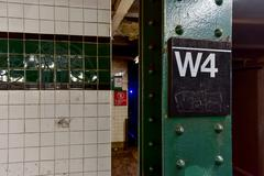 West Fourth Street Subway Stop - NYC - stock photo