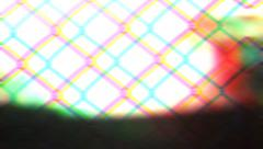 Metal fence (pound). Metal fence twitches. Video effects - stock footage