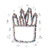 Stock Illustration of group  people  form  organizer pencil