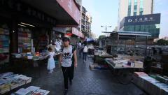 China Alleyway (market) on a Glidecam Stock Footage