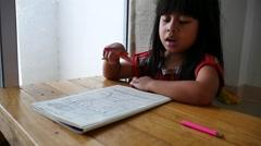 Maths Homework - stock footage