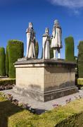 Gardens and fountains of the Alcazar de los Reyes Católicos, Cordoba, Andalu - stock photo