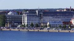 Ericsson building Karlskrona Stock Footage