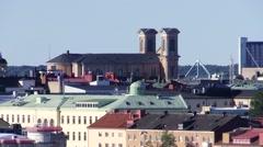 Fredrik church Karlskrona Stock Footage