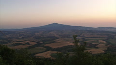 Italian valley at sunset pan - stock footage
