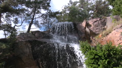 Waterfall in Swedish Nature park Stock Footage