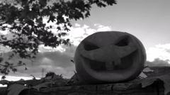 Scary pumpkin lantern Stock Footage