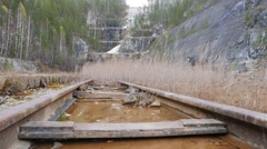 The rails of the water. Russia. 1280x720 Stock Footage