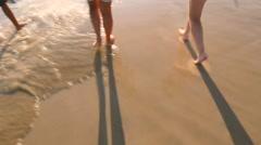 POV of the beach Stock Footage