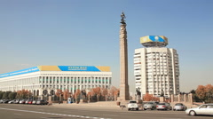 Monument Independence Kazakhstan Almaty Stock Footage
