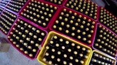 Fish sauce factory crates and production tubs filled bottles and large tubs 4k Stock Footage