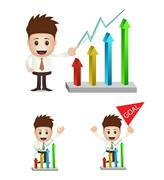 Marketing and statistic chart Stock Illustration