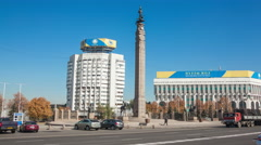 Almaty Central Square Stock Footage