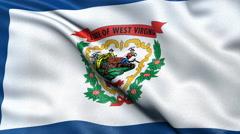 4K West Virginia state flag seamless loop Ultra-HD - stock footage