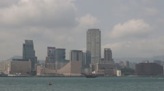 Amazing Kowloon peninsula monsoon season Asian destination tourism attraction  Stock Footage
