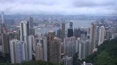 Timelapse aerial view amazing Hong Kong business skyscraper chinese destination  Stock Footage