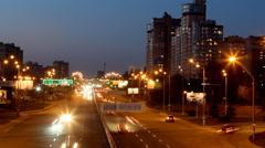 Lights of the night city - stock footage