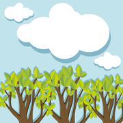 Evergreen forest at daytime Stock Illustration