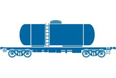 Tank Railway freight car - Vector illustration - stock illustration