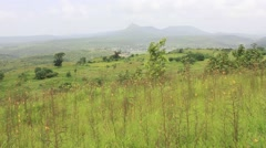Town situated in hill region Stock Footage