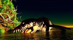 Liopleurodon - stock illustration