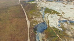 AERIAL VIEW. Limestone Open Cast In Bakhchisarai, Crimea Stock Footage
