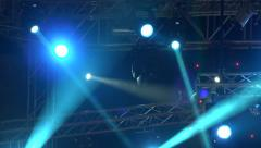 4k Stage lights on music concert Stock Footage