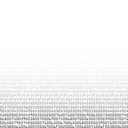 Black and white security background with HEX-code - stock illustration