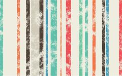 Retro Scratched Background - Color Lines with Different Width on Light Backgr - stock illustration