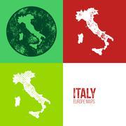 Italy Grunge Retro Map Stock Illustration