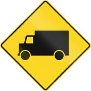 Lorry Warning Sign In Canada Stock Illustration