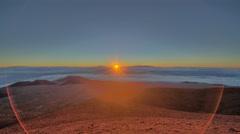 Mauna Kea, Big Island, Hawaii Time Lapse Dawn, High Altitude HDR Stock Footage