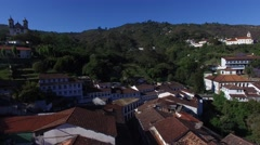 Flying over Ouro Preto in Minas Gerais, Brazil Stock Footage