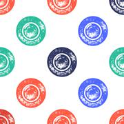 Blue, Red and Green Water Bubble Pattern on White Background Stock Illustration