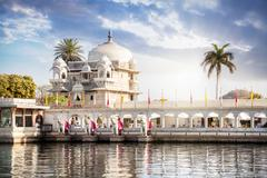 Luxury hotel in Udaipur Stock Photos