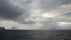 Antarctica Sea Landscape - stock footage