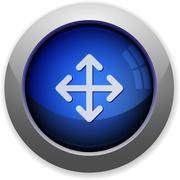 Move button - stock illustration