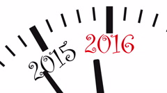 New Year clock Stock Footage