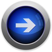 Right arrow button Stock Illustration