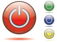 Sphere icon set - save - stock illustration