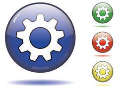 Cogwheel button symbol Stock Illustration