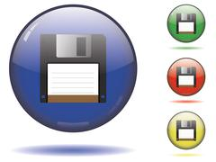 Sphere icon set - save Stock Illustration